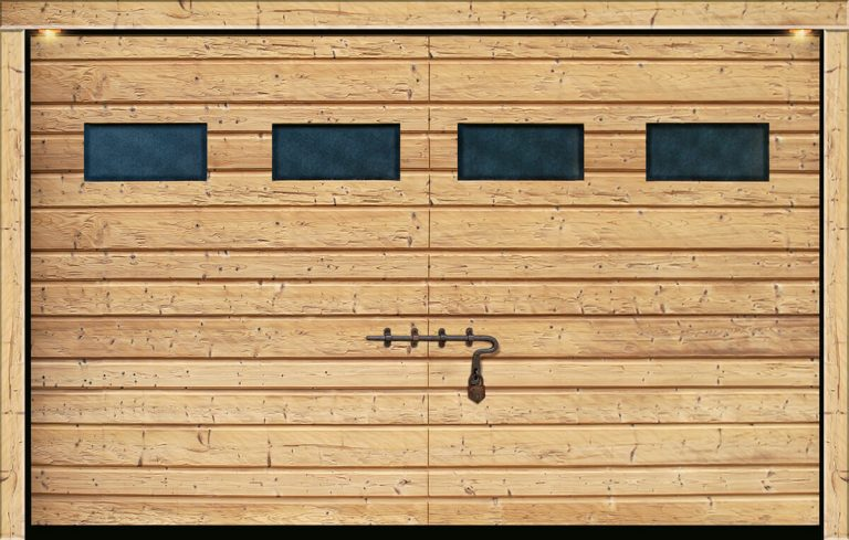 Porta sezionale legno Cardinello
